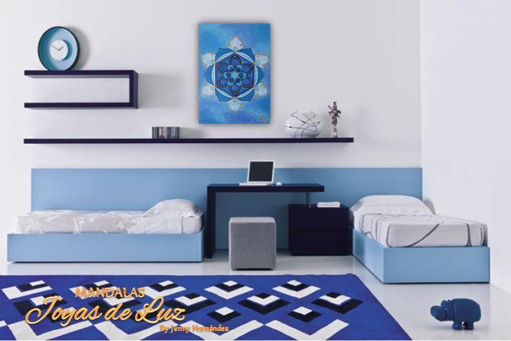 Mandala rayo Azul del arcángel Miguel