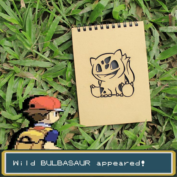 Pokedex entry number #001 BULBASAUR  The very first pokemon in pokedex now can stay on your pocket 😉  Our A6 size notebooks will perfectly fit on your pocket or bag hahaa 😀😀  Gotta Catch 'Em All !!