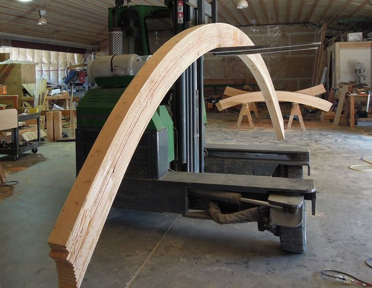 Curve bending before fabricate into truss