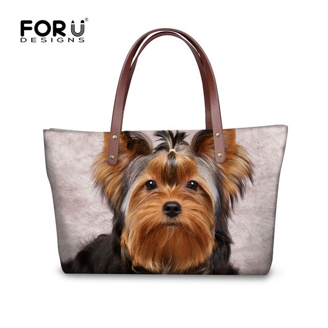 Special offer FORUDESIGNS Women Shoulder Bags Big Handbags Yorkshire Terrier Wolf Dog Horse Cat Print Women's Bag 2017 bolsa feminina female just only $23.99 with free shipping worldwide  #womanshoulderbags Plese click on picture to see our special price for you