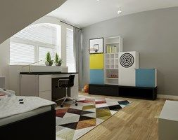 Pokój chłopca - Średni pokój dziecka dla chłopca dla ucznia dla nastolatka, styl nowoczesny - zdjęcie od All Design Agnieszka Lorenc
