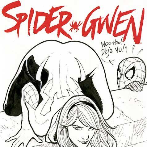 Frank Cho Spider Gwen sketch cover