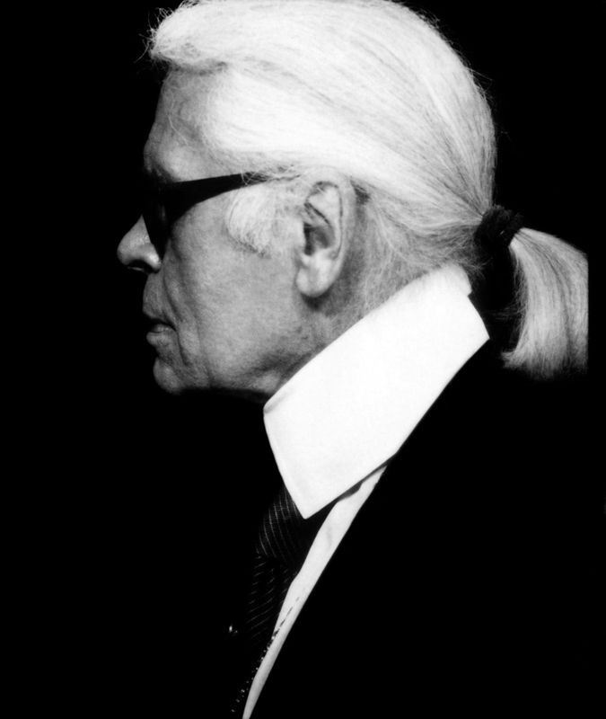 #KarlLagerfeld self portrait (?) 2011 -- #BlackTie
