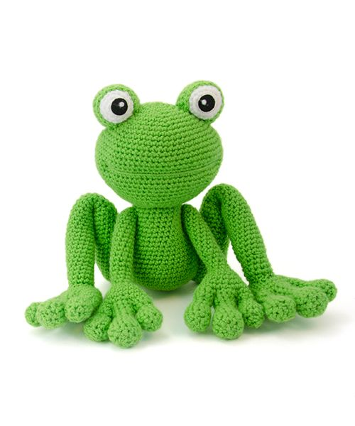 Kirk the frog amigurumi crochet pattern by Lisa Jestes