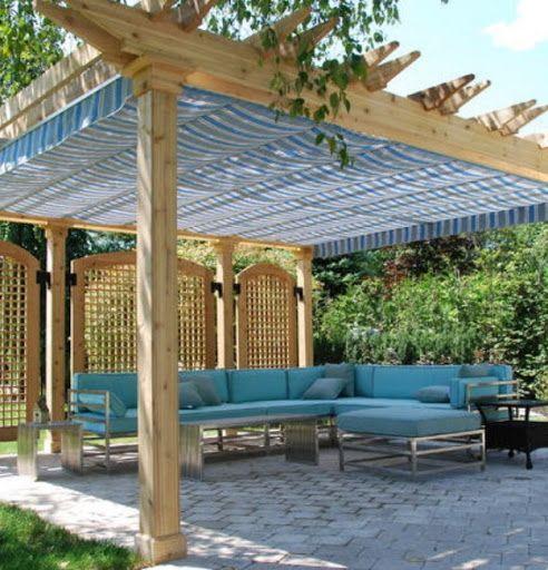 Pergola Off Of An Existing Covered Porch: Pergola Rain Covers