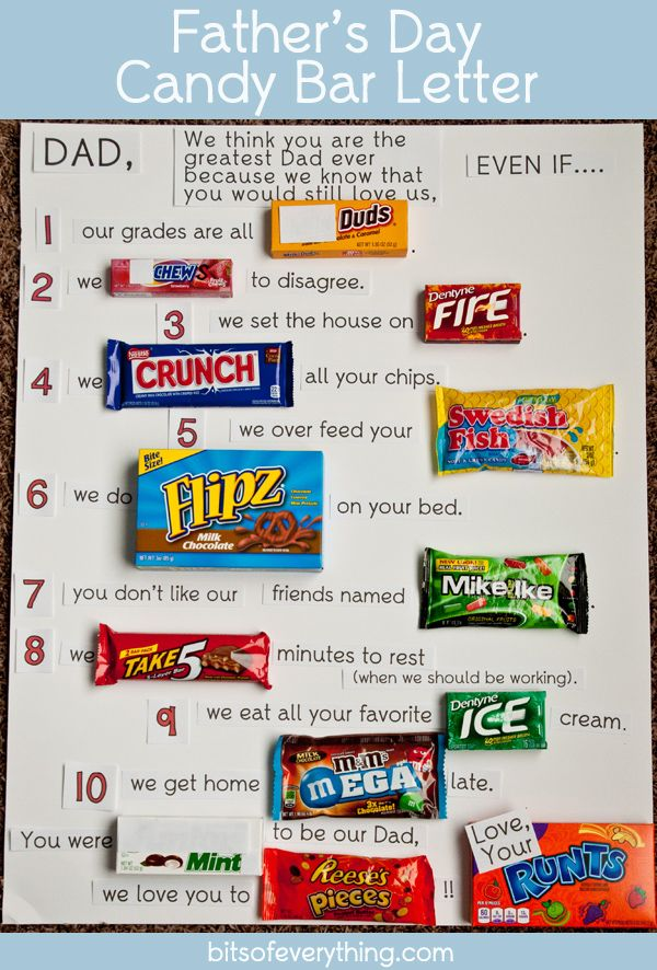 ... Best Father's Day Faves | Pinterest | Candy bars, Father's day and Bar
