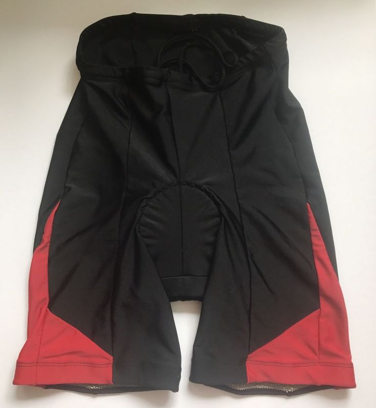 Men's Mountain Bike MTB Padded Shorts Black/Red Medium #compressionshorts #cycling #mens