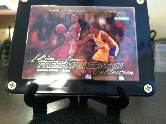 LeBron King James * Rookie Year Card * with Kobe Bryant Miami Heat Los Angeles Lakers 2003-04 Fresh $9.95