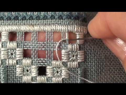 11 Mystic Christmas Sampler - Hardanger - Greek Crosses Step 1 - YouTube