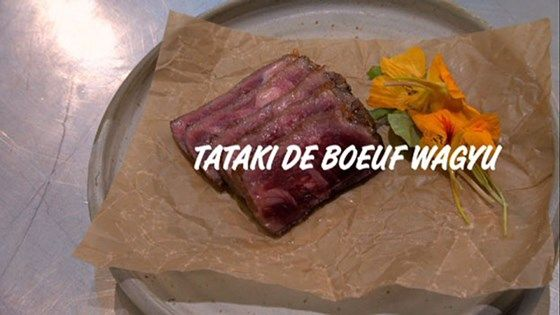 Tataki de boeuf Wagyu