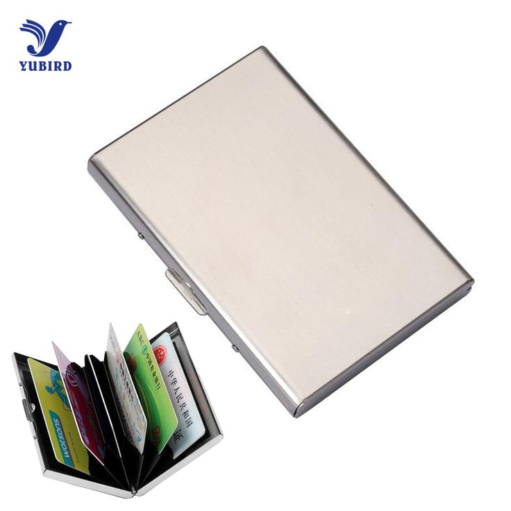 Stainless Steel Card Holder Business Men Women Credit Card Holder Case ID Cards Metal Travel Wallet Pu Leather Card