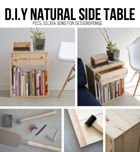 End Table Tutorial --> http://www.designsponge.com/2011/10/diy-project-pure-simple-side-table.html