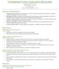 Qualifications Summary Example Cashier