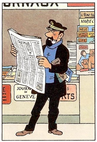 Hergé - Georges Prosper Remi (1907 – 1983). Le capitaine Haddock. [Pinned 9-v-2016]