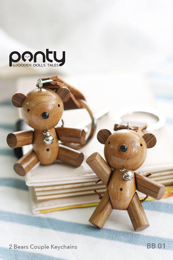 Ponty Dolls : 2 Bears Couple Keychains code BB 01 by PontyDolls