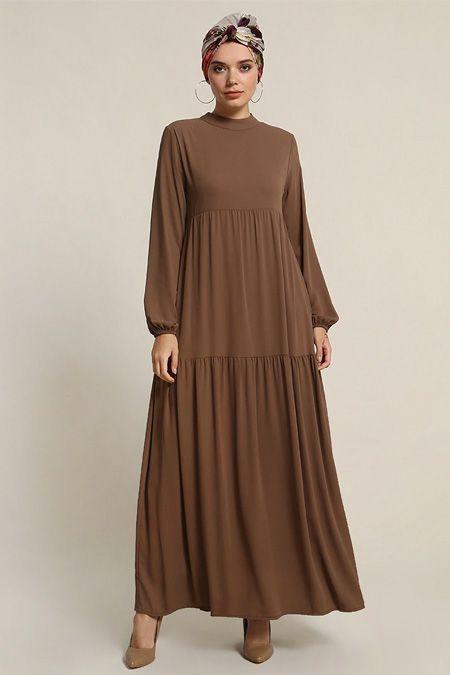 Refka Nerz Ärmel elastisches Kleid   – sam