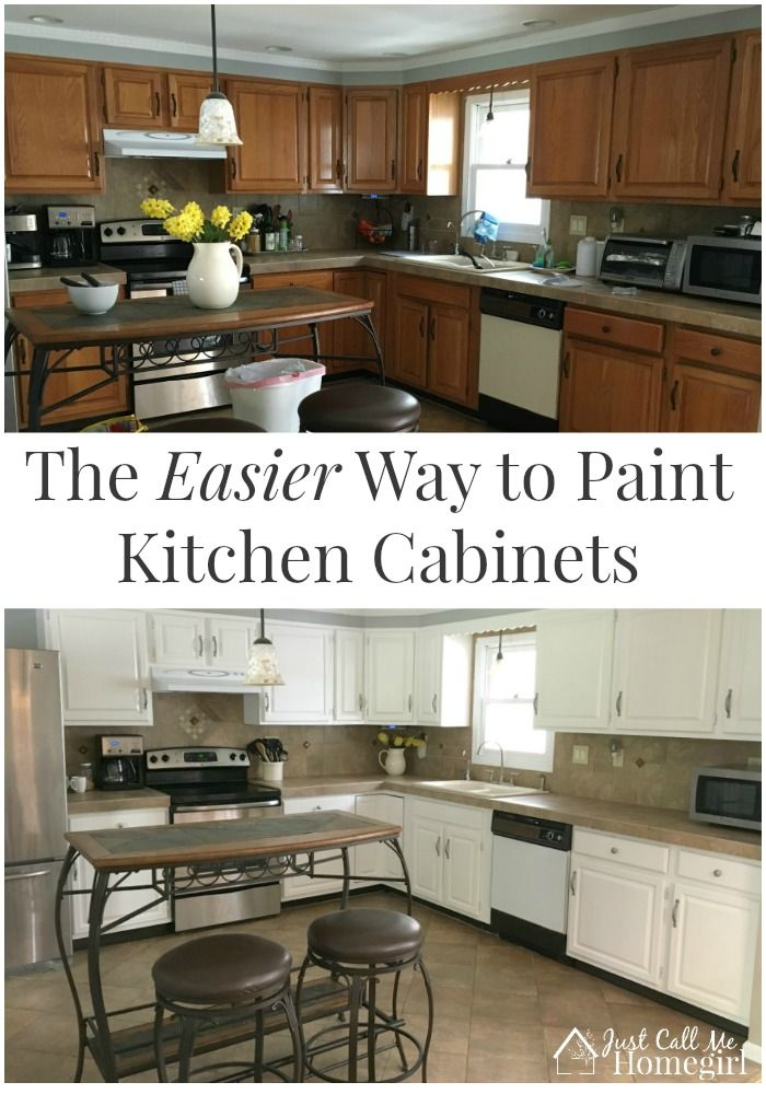 The easier way to paint kitchen cabinets oak cabinets for 7 x 9 kitchen cabinets