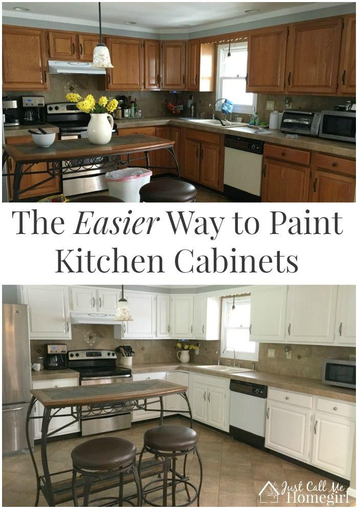 best 20 painting oak cabinets ideas on pinterest oak cabinets redo oak cabinet makeovers and. Black Bedroom Furniture Sets. Home Design Ideas