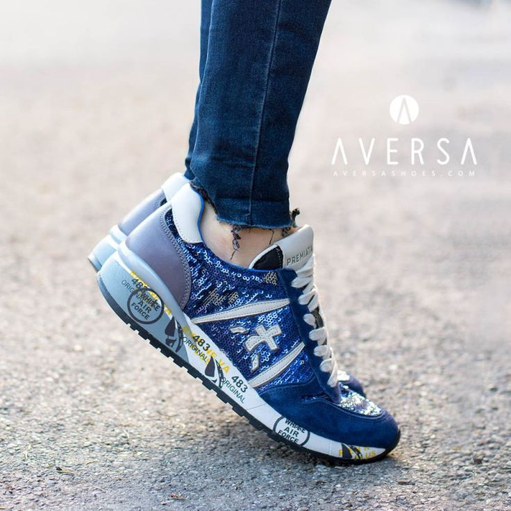 Premiata Sneakers paillettes blu