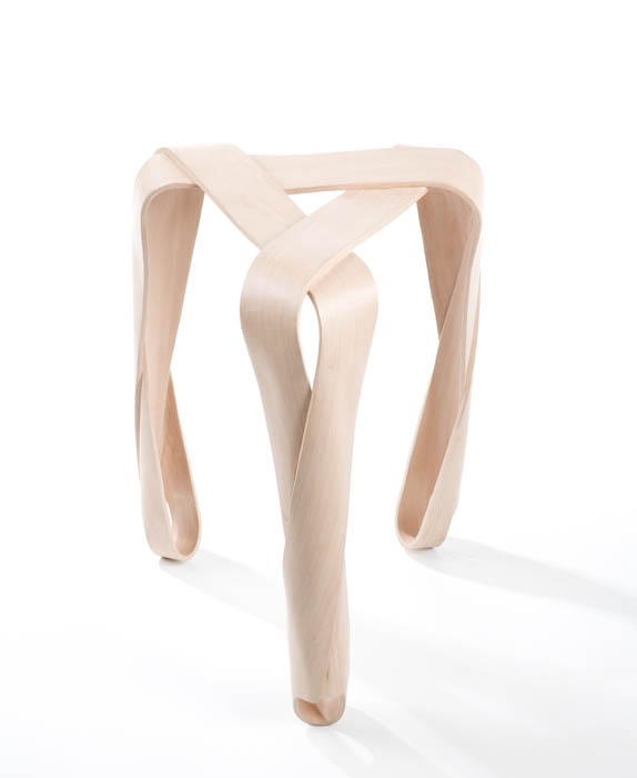 "Jan Lutyk, ""Ribbon"" stool. Photo by IAM"