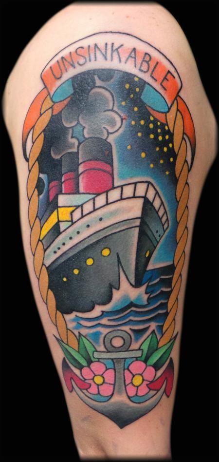 Titanic Tattoo by Jeff Ensminger