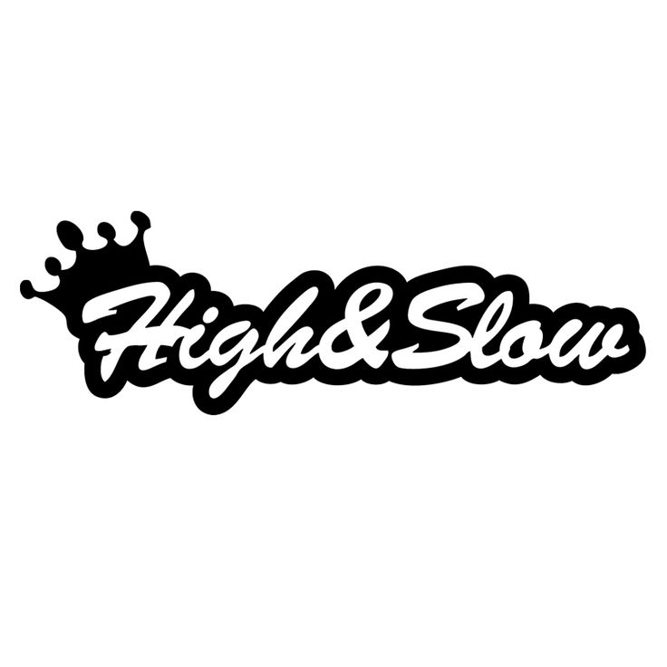 HotMeiNi High & Slow sticker Funny window decal Car Sticker Truck Bumper Boat Laptop Vinyl Decal