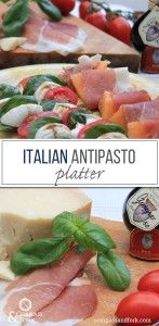 More holiday entertaining ideas- this easy to make ahead of time italian antipasto platter will make you think you are in Italy!  Italian Antipasto Platter http://www.compassandfork.com/recipe/italian-antipasto-platter/