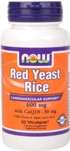 NOW Foods Red Yeast Rice & Coq10, 60 Vcaps by Now Foods. $13.86. Milk Thistle & Alpha Lipoic Acid. Cardiovascular Support*. 600 mg with CoQ10 - 30 mg. Red Yeast Rice is a unique natural product that's been used in Asian traditional medical systems since approximately 800 A.D. It is produced by the fermentation of red yeast (Monascus purpureus) with white rice. NOW® Red Yeast Rice is carefully produced to avoid the presence of citrinin, a sometimes toxic by-product of the fe...