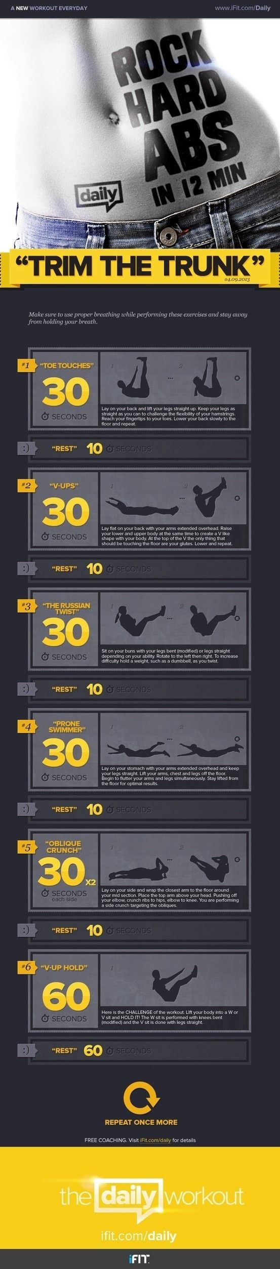Extremely Effective 12 Minute Ab Workout!