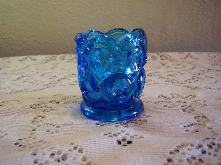 Smith Glass Moon and Stars Colonial Blue Toothpick Holder     eBay