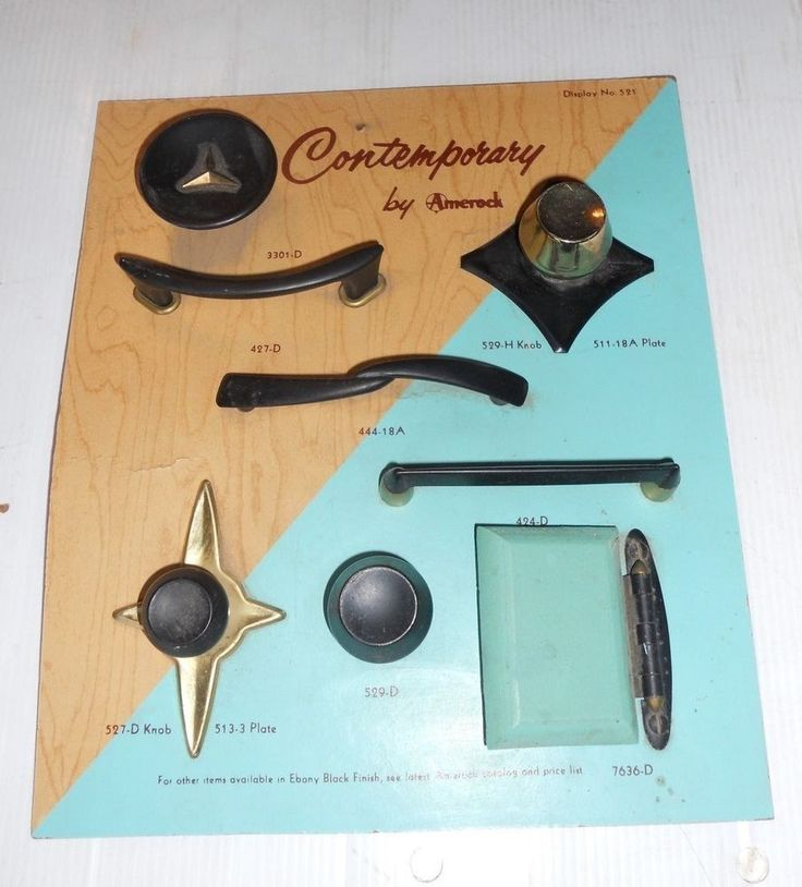 VINTAGE STORE DISPLAY CONTEMPORARY By AMEROCK FURNITURE HARDWARE DISPLAY  #591