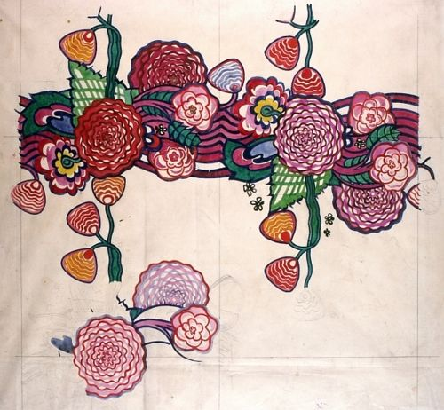 'Chyrsanthemums.'   Charles Rennie Mackintosh