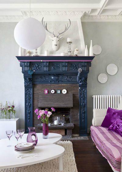 #Fireplace Color Ideas