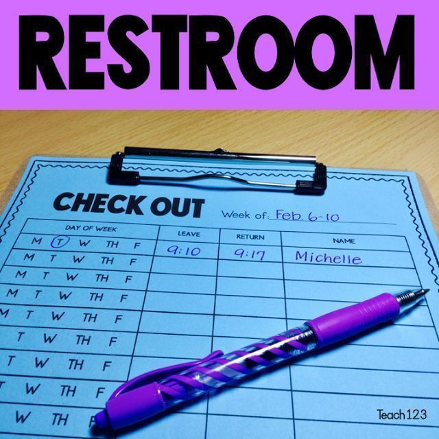 Classroom Management: Restroom break tips