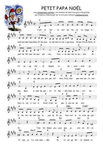 Petit papa Noël Partition gratuite