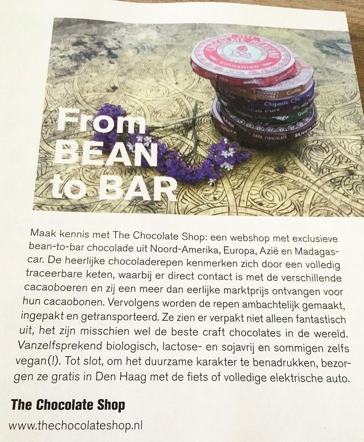 Lees ook over onze heerlijke bean-to-bar chocolade in @levenmagazine p.s. wij leveren gratis in Den Haag! Met  of met onze @snappcaregolf  lekker groen! #kerstinkopen #kerstcadeau #chocolade #chocolate #frombeantobar #beantobar #webshop #thechocolateshopnl #groen #groenleveren #ecar #electrisch #denhaag #thehague