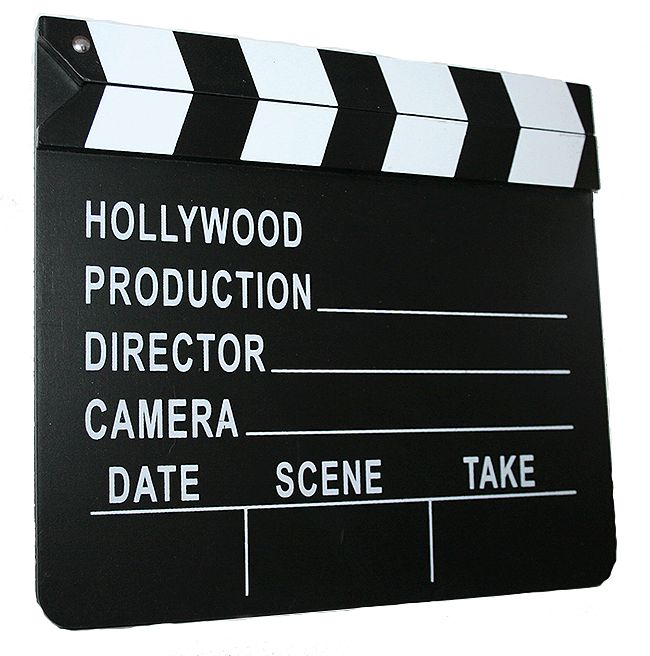 Hollywood Movie Film Director's Slateboard Clapper Clapperboard Prop