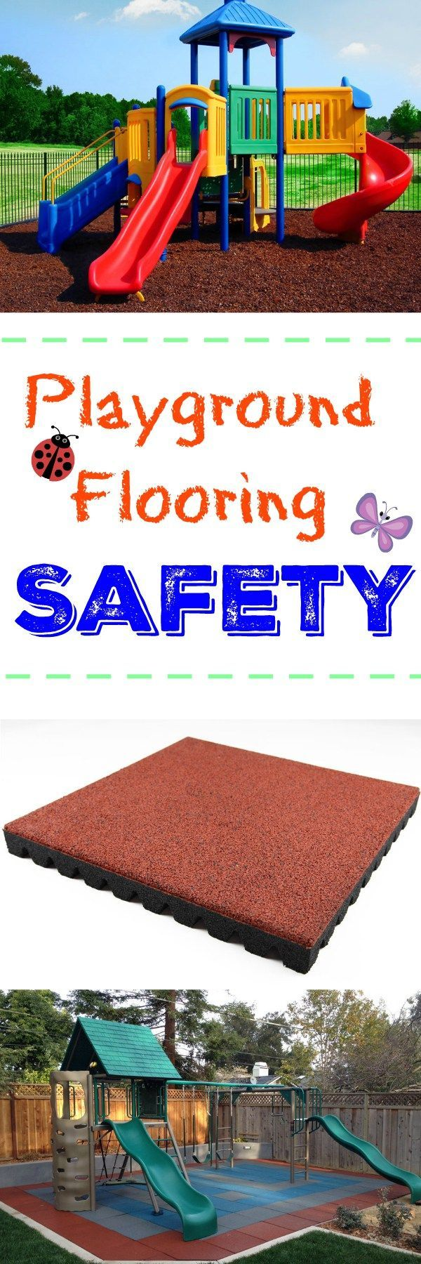 Playground Flooring Safety: Make sure your playground is safe and fall height safety rated with this all inclusive guide to playground flooring safety. Learn the surfaces to avoid and the appropriate tiles, mats and mulch that will keep your kids safe and your mind at ease.