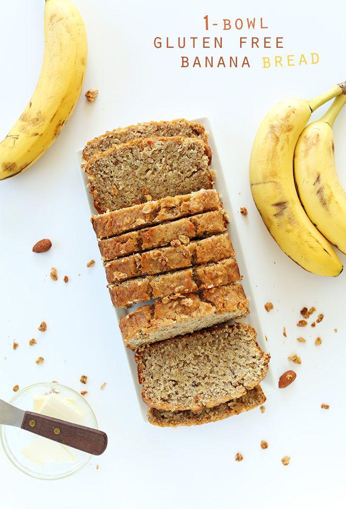 1 Bowl Gluten Free Banana Bread! Easy, wholesome and SO moist and delicious #glutenfree | minimalistbaker.com