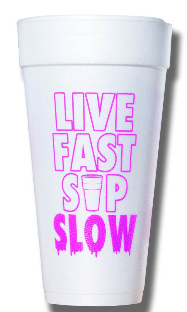 Live Fast Sip Slow Cup-Magenta