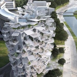 "Sou Fujimoto designs nature-inspired tower  for Montpellier ""modern follies"" project"