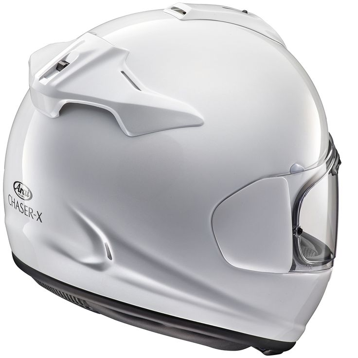 Free Freight No Hassle Returns Loyalty Points Product Details Arai Chaser-X Helmet - Solid Colours Chaser-X is the third Arai helmet that makes use of the new VAS (variable Axis System) technology that offers a significant larger and smoother shell area above the SNELL test line greatly improving the important helmet glancing off performance. The Chaser-X makes use of an also completely new ventilation system derived from the RX-7V, instantly recognizable by the large, single intake duct on…