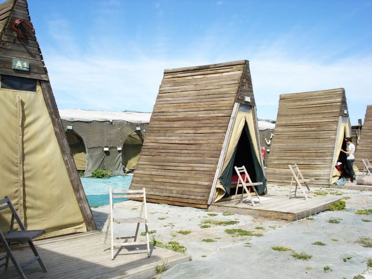 The Beach Camp at Paternoster. Create structure out of PVC and canvas to make it portable.