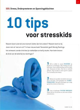 Anti stress tips voor kids