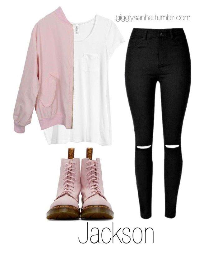 """""""Colorful // Jackson"""" by suga-infires ❤ liked on Polyvore featuring H&M and Dr. Martens"""