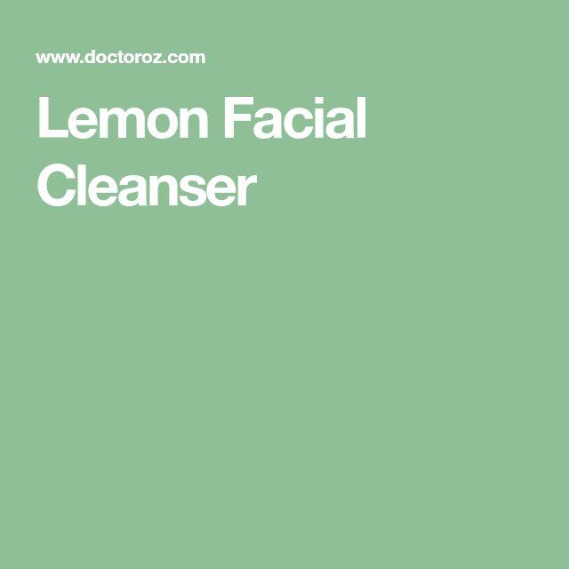 Lemon Facial Cleanser