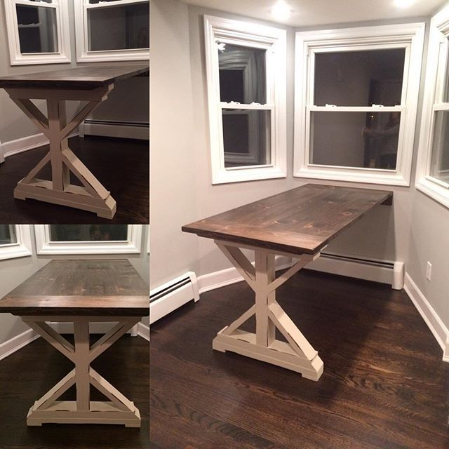 Custom mods to this plan for Ana white x dining room table