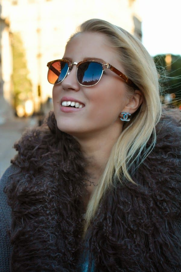 Chanel Earrings and Topshop Sunnies.