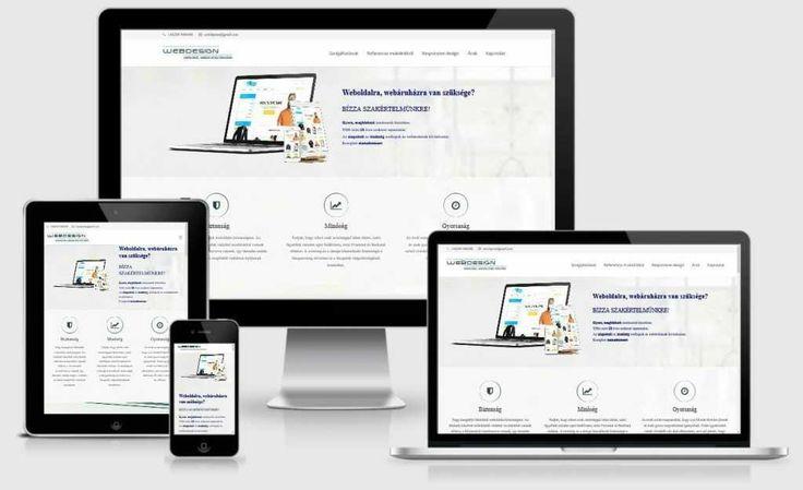 Responsive Weboldal, honlap, webáruház, weblap készítés -