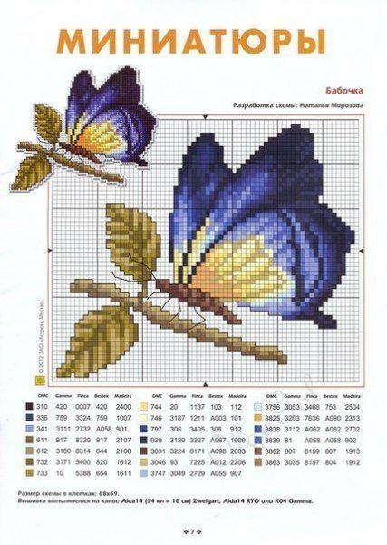 mariposas en pundo de cruz02